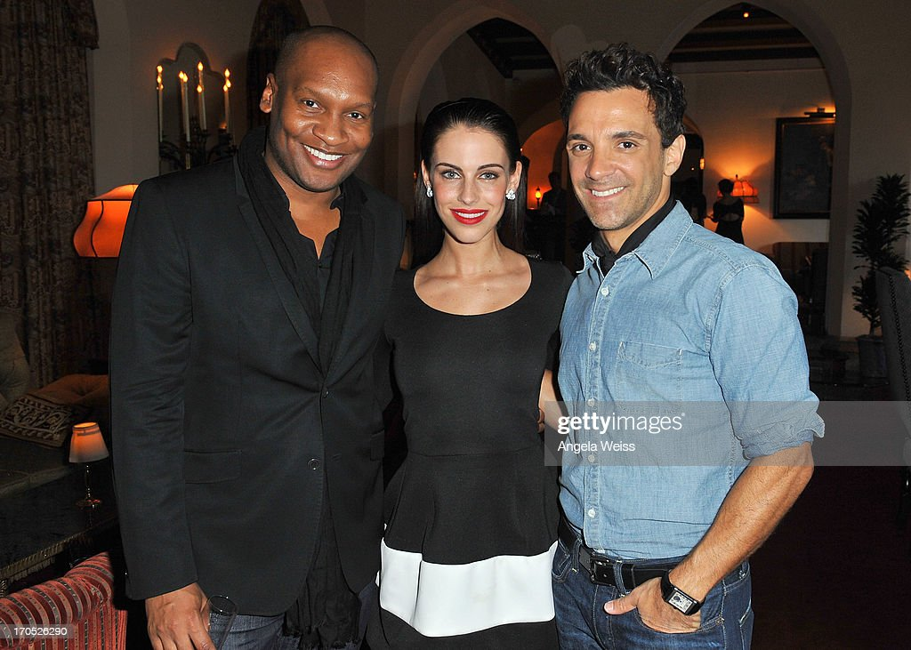 Marcellas Reynolds, Jessica Lowndes and George Kotsiopoulos attend Lucky Brand's Measure of Style Dinner at Chateau Marmont on June 13, 2013 in Los Angeles, California.
