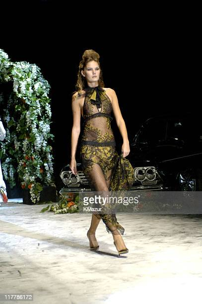 Marcelle Bittar wearing Gwen Stefani for LAMB Spring 2006