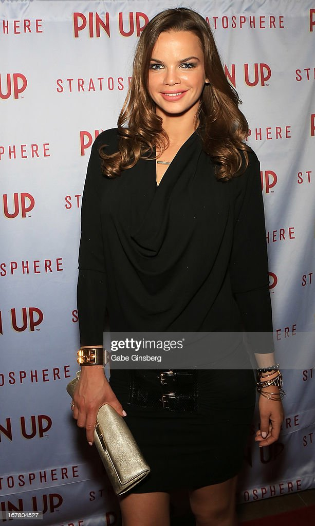 Marcelle Braga arrives at the premiere of the show 'Pin Up' at the Stratosphere Casino and Hotel on April 29, 2013 in Las Vegas, Nevada.