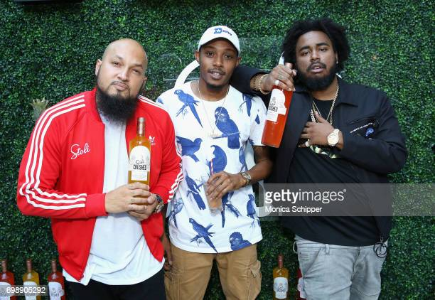 Marcello 'Cool' Antonio Valenzano DJ Traphouse and Kent Jones attend the Stoli Crushed launch party at the Beach at Dream Downtown on June 20 2017 in...