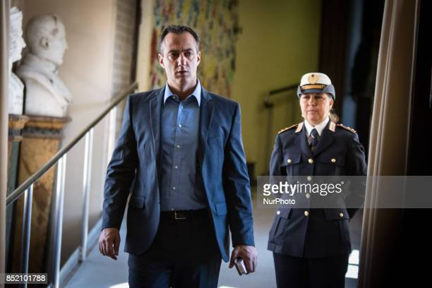 Marcello De Vito during press conference for the presentation of the mayor of Rome Virginia Raggi with the councillor for urban planning Luca...