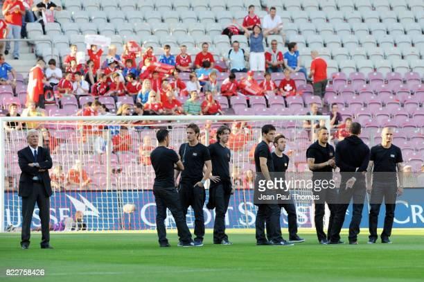 Marcello LIPPI et le groupe Suisse / Italie Match de preparation Coupe du Monde 2010 Stade de Geneve