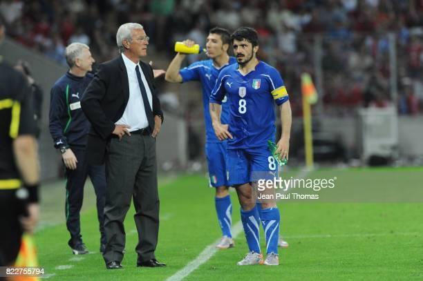 Marcello LIPPI / Gennaro GATTUSO Suisse / Italie Match de preparation Coupe du Monde 2010 Stade de Geneve