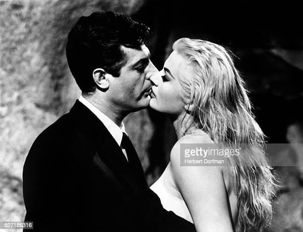 Marcello Mastroianni and Anita Ekberg in La Dolce Vita
