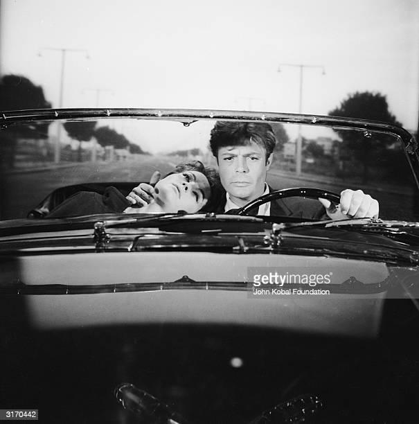 Marcello Mastroianni plays a philandering journalist and Yvonne Furneaux his suicidal mistress in 'La Dolce Vita' directed by Federico Fellini