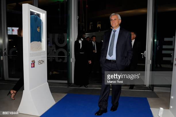 Marcello Nicchi President referee Italian assosation during the new FIGC logo unveiling at Maxxi Museum on October 2 2017 in Rome Italy