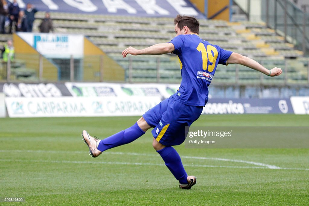 Marcello Sereni of Parma scores during the Serie A match between Parma Calcio 1913 and Bellaria Igea Marina at Stadio Ennio Tardini on May 1, 2016 in Parma, Italy.