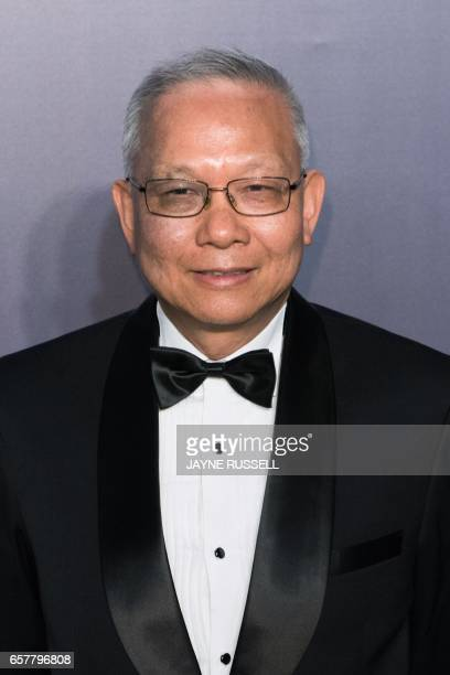 Marcellus Wong Vice Chairman of the Board of Directors of the AMTD group poses on the red carpet during the 2017 American Foundation for AIDS...