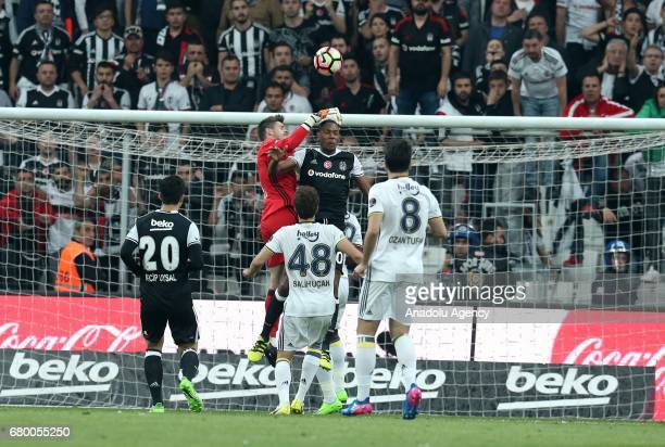 Marcelo and Fabri of Besiktas in action during Turkish Spor Toto Super Lig soccer match between Besiktas and Fenerbahce at Vodafone Arena in Istanbul...