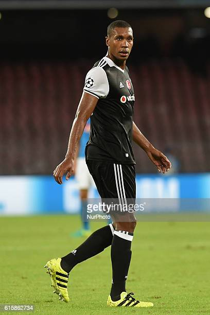 Marcelo Antonio Guedes Filho of Besiktas during the UEFA Champions League match between SSC Napoli and Besiktas at Stadio San Paolo Naples Italy on...