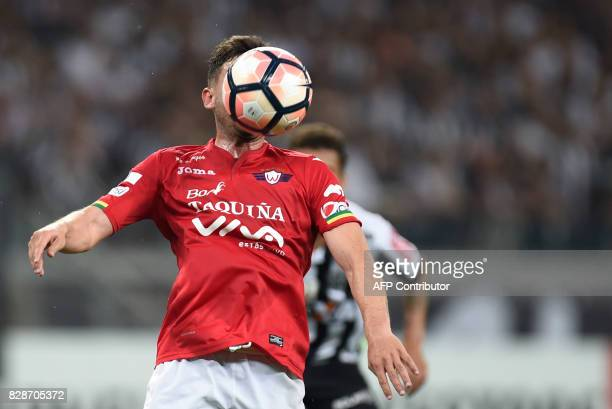 Marcelo Bergese of Bolivia's Jorge Wilstermann during their 2017 Copa Libertadores match against Brazil's Atletico Mineiro held at Mineirao stadium...
