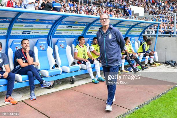 Marcelo Bielsa coach of Lille during the Ligue 1 match between Racing Club Strasbourg and Lille OSC at Stade de la Meinau on August 13 2017 in...