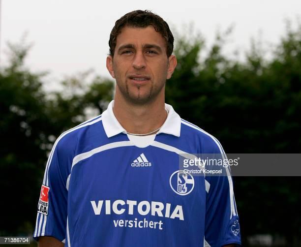 Marcelo Bordon poses during the Bundesliga 1st Team Presentation of FC Schalke 04 at theTraining Ground on July 7 2006 in Gelsenkirchen Germany