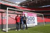 Marcelo Bosch and Kelly Brown of Saracens and World Cup winner Will Greenwood reveal the date that tickets are released for sale 12 September 2014...