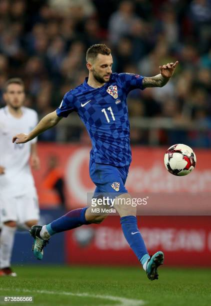 Marcelo Brozovic of Croatia controls the ball during the FIFA 2018 World Cup Qualifier playoff second leg match between Greece and Croatia at...