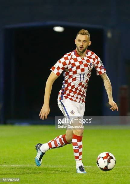 Marcelo Brozovic of Croatia during the FIFA 2018 World Cup Qualifier PlayOff First Leg between Croatia and Greece at Stadion Maksimir on November 9...