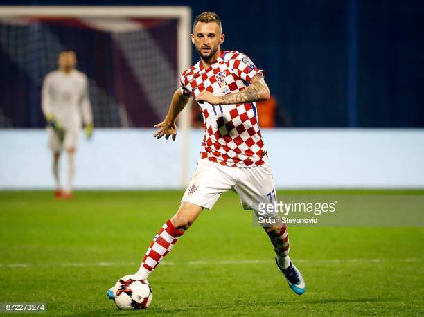 Marcelo Brozovic of Croatia in action during the FIFA 2018 World Cup Qualifier PlayOff First Leg between Croatia and Greece at Stadion Maksimir on...