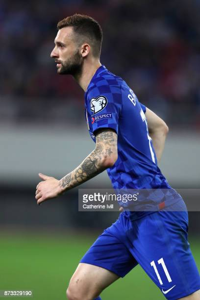 Marcelo Brozovic of Croatia in action during the FIFA 2018 World Cup Qualifier PlayOff Second Leg between Greece and Croatia at Karaiskakis Stadium...