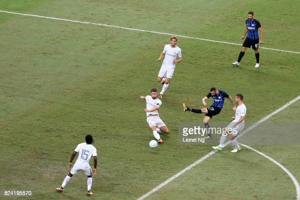 Marcelo Brozovic of FC Internazionale attempts a shot on goal during the International Champions Cup match between FC Internazionale and Chelsea FC...