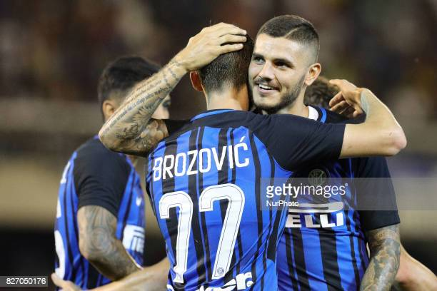 Marcelo Brozovic of FC Internazionale celebrate the goal of final 31 during the PreSeason 2017/2018 International Friendly FC Internazionale v...