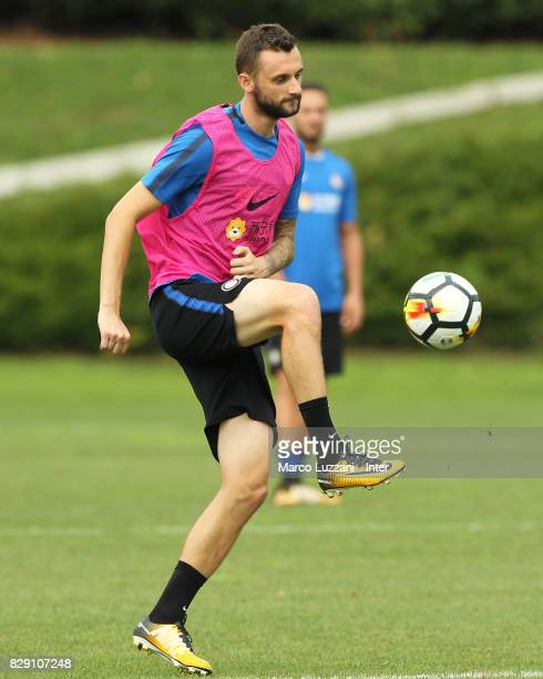 Marcelo Brozovic of FC Internazionale controls the ball during the FC Internazionale training session at the club's training ground Suning Training...