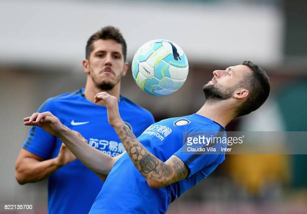 Marcelo Brozovic of FC Internazionale in action during a training session at Bishan Sports Hall on July 25 2017 in Singapore