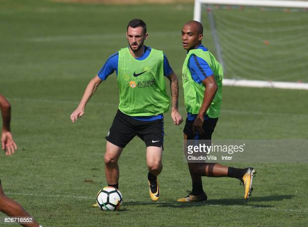 Marcelo Brozovic of FC Internazionale in action during a training session at Suning Training Center at Appiano Gentile on August 3 2017 in Como Italy