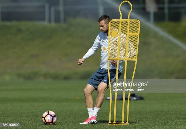 Marcelo Brozovic of FC Internazionale in action during the FC Internazionale training session at the club's training ground Suning Training Center in...