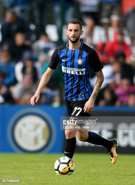 Marcelo Brozovic of FC Internazionale in action during the PreSeason Friendly match between FC Internazionale and Nurnberg on July 15 2017 in Bruneck...