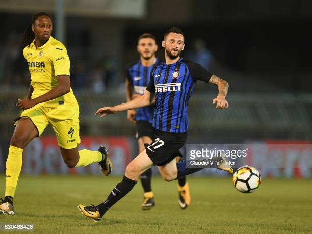 Marcelo Brozovic of FC Internazionale in action during the PreSeason Friendly match between FC Internazionale and Villareal CF at Stadio Riviera...