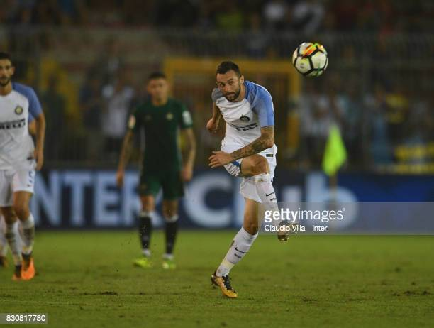 Marcelo Brozovic of FC Internazionale in action during the PreSeason Friendly match between FC Internazionale and Real Betis at Stadio Via del Mare...