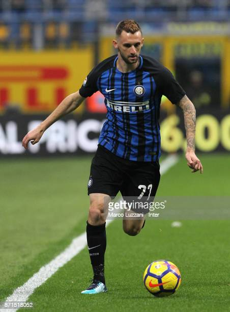 Marcelo Brozovic of FC Internazionale in action during the Serie A match between FC Internazionale and Torino FC at Stadio Giuseppe Meazza on...
