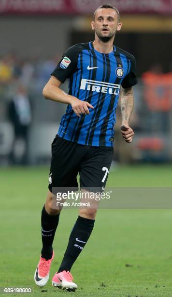 Marcelo Brozovic of FC Internazionale Milano looks on during the Serie A match between FC Internazionale and Udinese Calcio at Stadio Giuseppe Meazza...