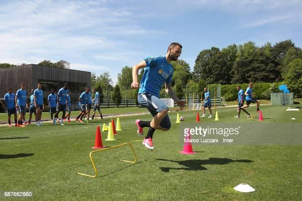 Marcelo Brozovic of FC Internazionale trains during the FC Internazionale training session at the club's training ground Suning Training Center in...