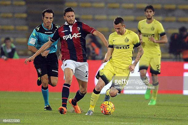 Marcelo Brozovic of Internazionale Milano in action during the Serie A match between Bologna FC and FC Internazionale Milano at Stadio Renato...