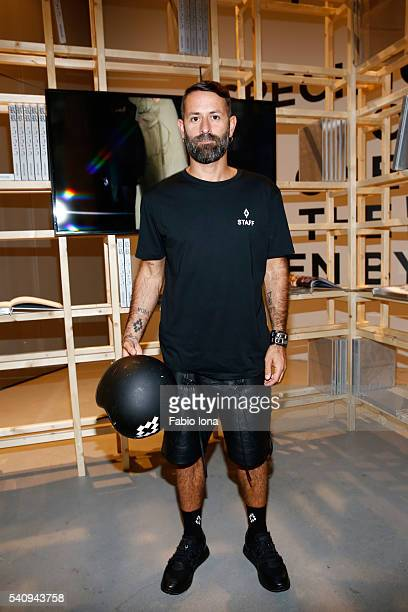 Marcelo Burlon attends Renzo Rosso And OTB Launch 'Radical Renaissance 555' Book on June 17 2016 in Milan Italy