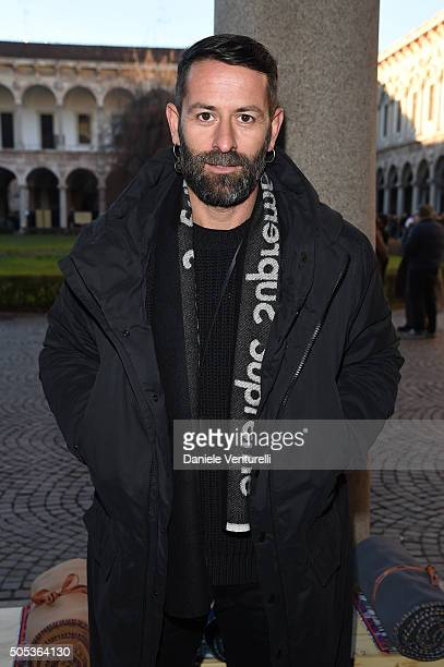 Marcelo Burlon attends the Missoni show during Milan Men's Fashion Week Fall/Winter 2016/17 on January 17 2016 in Milan Italy
