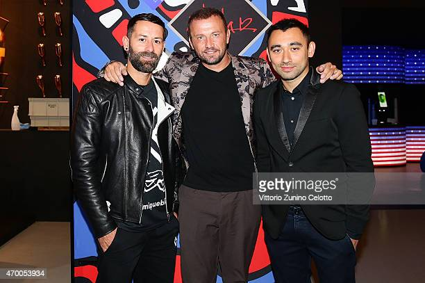 Marcelo Burlon Mauro Porcini and Nicola Formichetti participates in the #PepsiChallenge Round Table At The PepsiCo 'Mix It Up' Space During Milan...