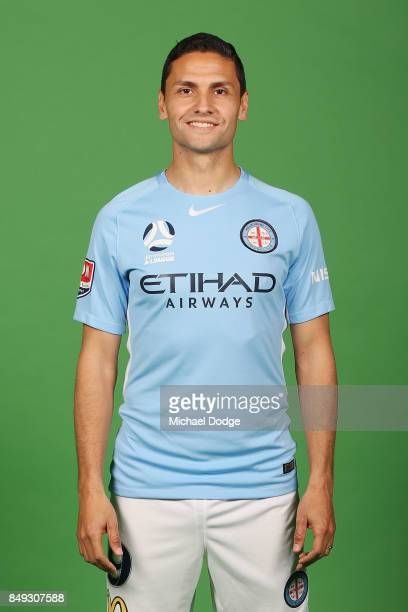 Marcelo Carrusca poses during the Melbourne City 2017/18 ALeague season headshots session Fox Footy Studios on September 19 2017 in Melbourne...