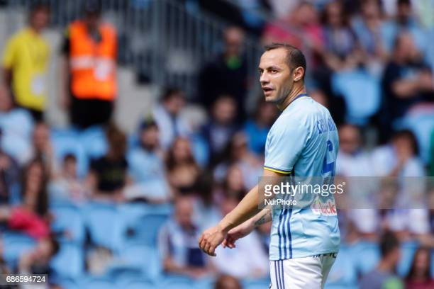 Marcelo Diaz midfielder of Celta de Vigo during the La Liga Santander match between Celta de Vigo and Real Sociedad de Futbol at Balaidos Stadium on...