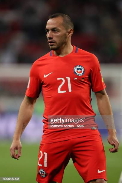 Marcelo Diaz of Chile in action during the FIFA Confederations Cup Russia 2017 Group B match between Germany and Chile at Kazan Arena on June 22 2017...