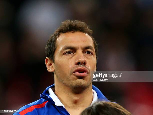 Marcelo Diaz of Chile looks on prior to the international friendly match between England and Chile at Wembley Stadium on November 15 2013 in London...