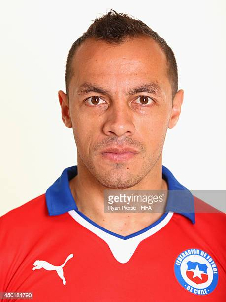 Marcelo Diaz of Chile poses during the official FIFA World Cup 2014 portrait session on June 6 2014 in Belo Horizonte Brazil