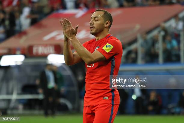 Marcelo Diaz of Chile reacts after Lars Stindl of Germany scored the first goal during the FIFA Confederations Cup Russia 2017 Final match between...