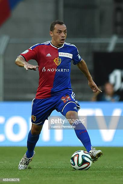 Marcelo Diaz of FC Basel in action during the Raiffeisen Super League match between FC Basel and FC Zurich at St JakobPark on August 9 2014 in Basel...