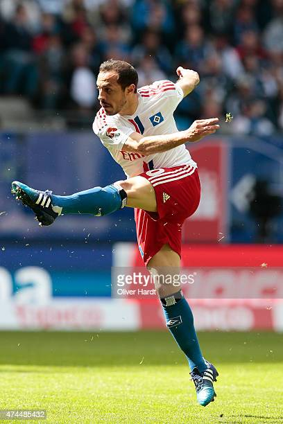 Marcelo Diaz of Hamburg in action during the First Bundesliga match between Hamburger SV and FC Schalke 04 at Imtech Arena on May 23 2015 in Hamburg...