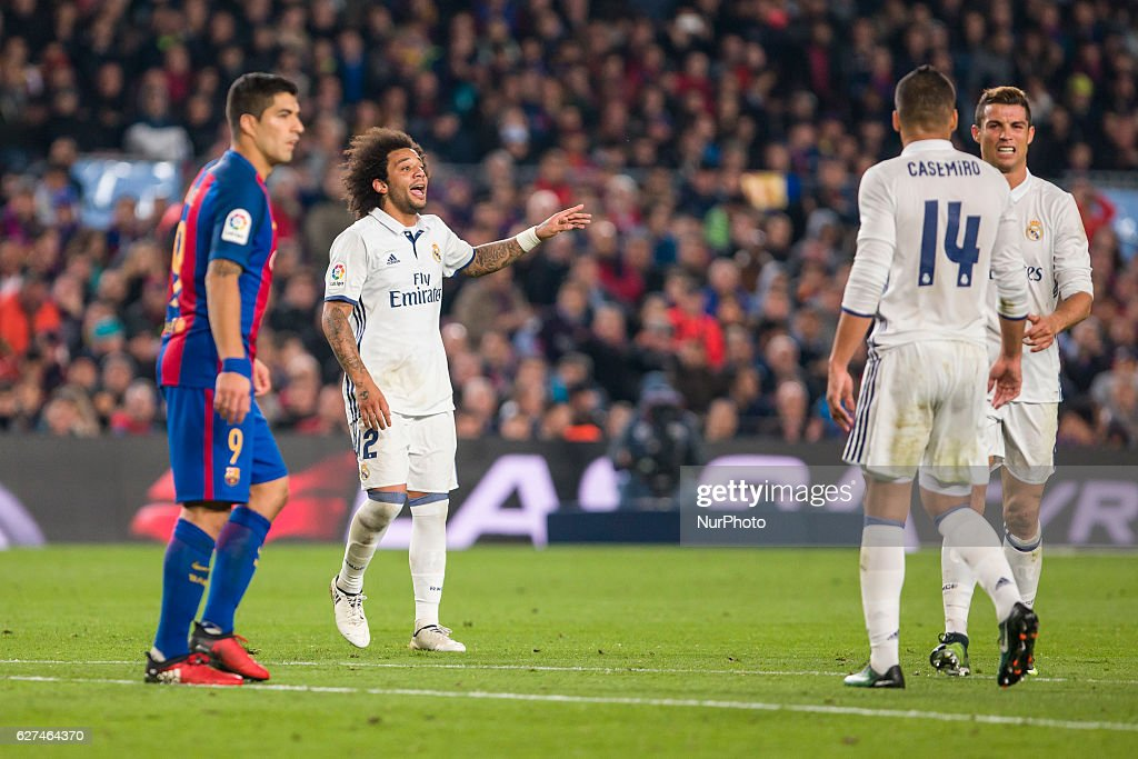 Marcelo during the match between FC Barcelona vs Real Madrid for the round 14 of the Liga Santander played at Camp Nou Stadium on 3th December 2016...