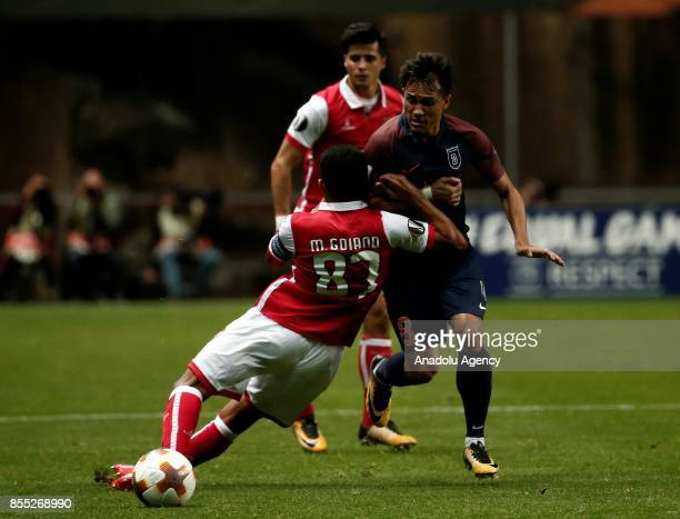 Marcelo Goiano of Sporting Braga in action during the UEFA Europa League Group C match between Sporting Braga and Medipol Basaksehir at the Braga...