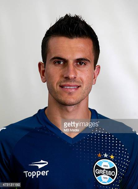 Marcelo Grohe of Gremio FootBall Porto Alegrense poses during a portrait session on August 14 2014 in Porto AlegreBrazil