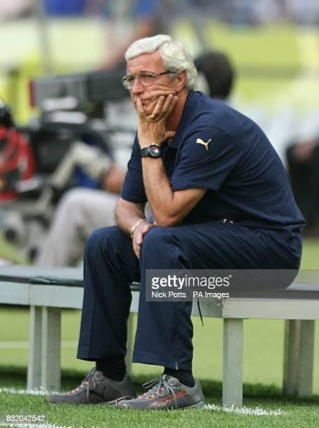 Marcelo Lippi Italy head coach awaits the start of the match